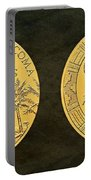Pueblo Of Acoma Tribe Code Talkers Bronze Medal Art Portable Battery Charger