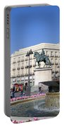 Puerta Del Sol In Madrid Portable Battery Charger