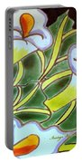 Calla Lillies Splashed Portable Battery Charger