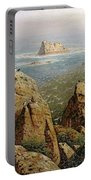 Puffins On Lundy Island Oil On Canvas Portable Battery Charger