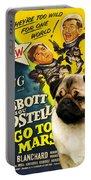 Pug Art - Abbott And Costello Go To Mars Portable Battery Charger