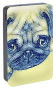 Pug Puppy Pastel Sketch Portable Battery Charger