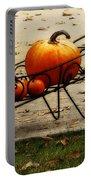 Pumpkin Barrow Portable Battery Charger