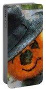 Pumpkin Face Photo Art 06 Portable Battery Charger
