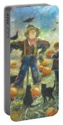 Pumpkin Patch Girl Portable Battery Charger