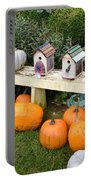 Pumpkins And Birdhouses Portable Battery Charger