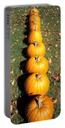 Pumpkins In A Row Portable Battery Charger