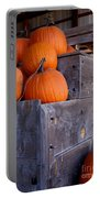 Pumpkins On The Wagon Portable Battery Charger