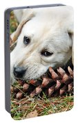 Puppy With Pine Cone Portable Battery Charger
