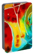 Pure Joy 1 - Abstract Art By Sharon Cummings Portable Battery Charger