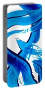 Pure Water 302 - Blue Abstract Art By Sharon Cummings Portable Battery Charger