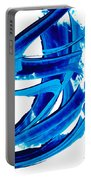 Pure Water 304 - Blue Abstract Art By Sharon Cummings Portable Battery Charger