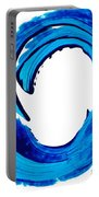 Pure Water 312 - Blue Abstract Art By Sharon Cummings Portable Battery Charger