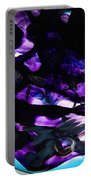 Purple Abstract Portable Battery Charger