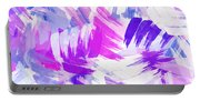 Purple Abstract Paint Pattern Portable Battery Charger