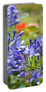 Purple Agapanthas Portable Battery Charger