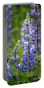 Purple Alaskan Lupines Portable Battery Charger