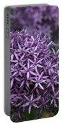 Purple Allium Portable Battery Charger
