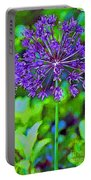 Purple Allium Flower Portable Battery Charger