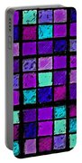 Purple And Aqua Sudoku Portable Battery Charger