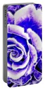 Purple And Blue Rose Expressive Brushstrokes Portable Battery Charger