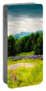 Purple And Mountains And Majesty Portable Battery Charger