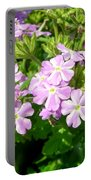 Purple And White Phlox Portable Battery Charger