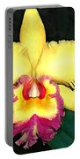 Purple And Yellow Cattleya Orchids Portable Battery Charger