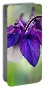 Purple Aquilegia Portable Battery Charger