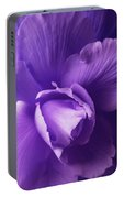 Purple Begonia Flower Portable Battery Charger