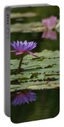 Purple Blossoms Floating Portable Battery Charger