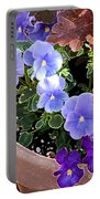Bright Purple Pansy Portable Battery Charger