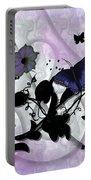 Purple Butterflies Portable Battery Charger