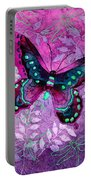 Purple Butterfly Portable Battery Charger