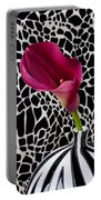 Purple Calla Lily Portable Battery Charger