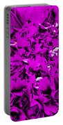 Purple Carnation Portable Battery Charger