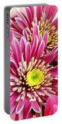 Purple Chrysanthemum Portable Battery Charger