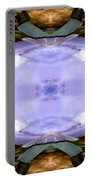 Purple Clam Shell Mandala Yantra Portable Battery Charger by Marie Jamieson
