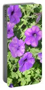 Petunias Purple Club Portable Battery Charger