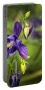 Purple Columbine Portable Battery Charger