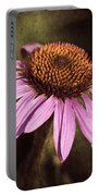 Purple Cone Flower II Portable Battery Charger