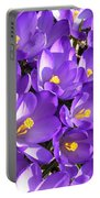 Purple Crocus Spring Welcome Portable Battery Charger