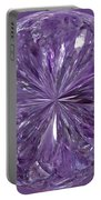 Purple Crystal Gem Portable Battery Charger