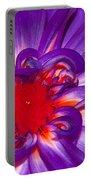Purple Dahlia Portable Battery Charger