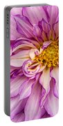 Purple Dahlia Portable Battery Charger