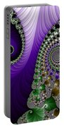 Purple Feathers Portable Battery Charger