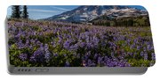 Purple Fields Forever And Ever Portable Battery Charger