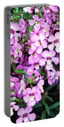 Purple Flora Portable Battery Charger