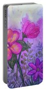 Purple Floral Fantasy Portable Battery Charger