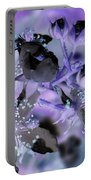 Purple Flower Abstract  2 Portable Battery Charger